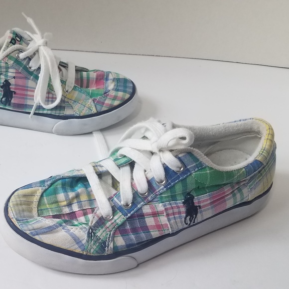 online here finest selection newest collection Polo Brisbane Plaid Canvas Shoes 6